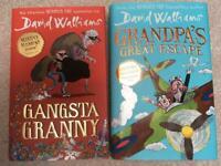 David Walliams hardback books.