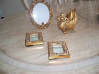 Gold ornate picture frames