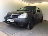 2004   Renault Clio Authentique 1.2   Manual   Petrol   6 Months MOT   Black