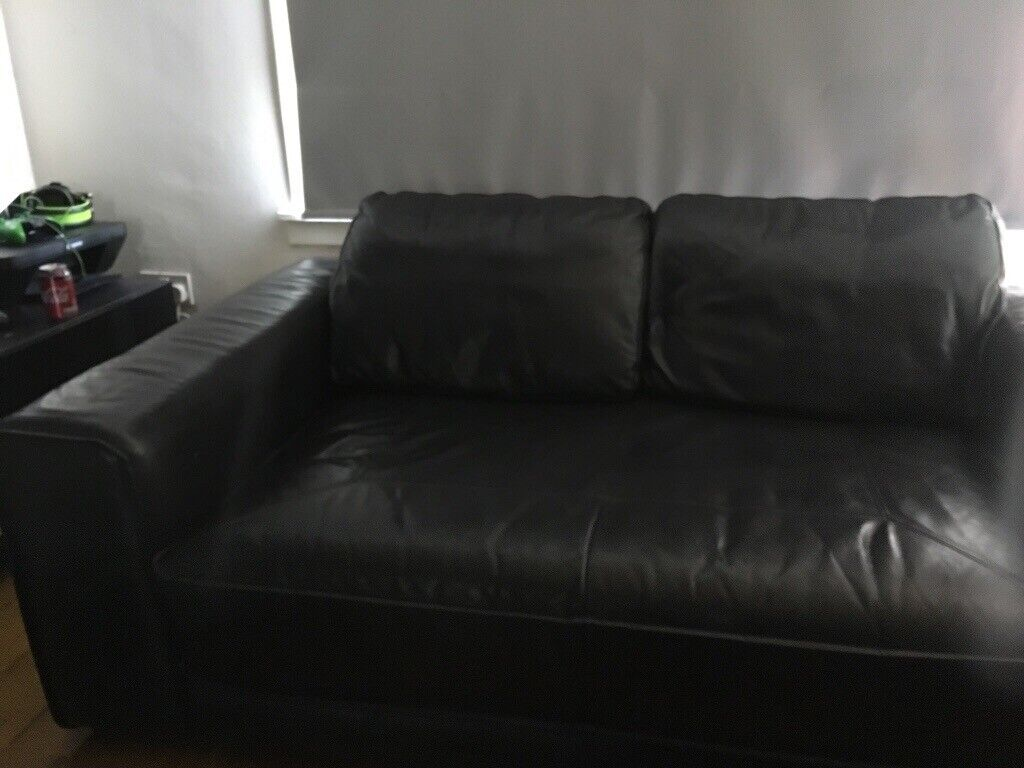 Astonishing Black Leather Sofa In Kelvindale Glasgow Gumtree Home Interior And Landscaping Oversignezvosmurscom