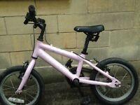 Pink girls ridgeback bike 14 (age 3 up)