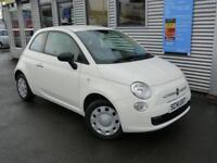 FIAT 500 1.2 POP 3d 69 BHP **£30 ROAD TAX** (white) 2014