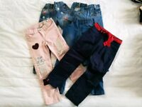 Jeans and trousers for 4-5 years old girls