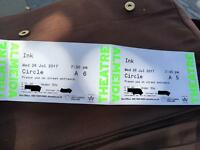 "2 x Tickets for ""Ink"" at Almeida Theatre"