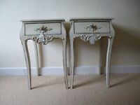 Pair of French Style Shabby Chic Bedside Tables New Never Used
