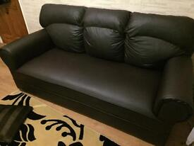 3 piece sofa suite brown faux leather sofa