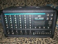 PEAVEY XR600E P.A + OHM 300 WATT SPEAKERS