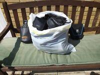 Camera bags all sizes, + lens bags. Bin bag full.
