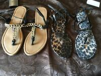 Atmosphere 2 flip flop sandals size 6/39 used £3