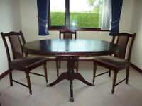 STAGG MINSTER DINNING ROOM TABLE AND 4 MATCHING CHAIRS