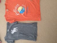 One abercrombie and fitch top and one hollister top