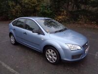 2005 FORD FOCUS 1.6 TDCI LX 90 BHP 5 DOOR HATCHBACK BLUE 1 OWNER FROM NEW