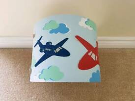 Boys Red And Blue Aeroplane Light Shade