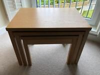 Skovby Nest of 3 Oak Tables