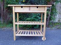 Kitchen trolley - solid wood - IKEA Forhoja