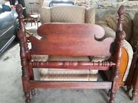 Antique twin pineapple four poster bed