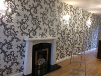 £55 PER FEATURE WALLPAPER FITTING. 24 HOUR CALL OUT SERVICE. FEATURE WALLS. PAINTER AND DECORATOR