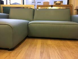 Blue corner sofa with chaise longue