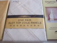 PAIRS OF VOILE CURTAIN £4 EACH PAIR