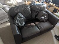 2 Seater Leather Sofa good condition with leather cushions