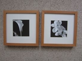 SET OF 2 FRAMED PRINTS ~ IKEA BLK & WHITE PRINTS ~ AS NEW ~ £5 FOR BOTH
