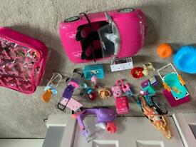 Barbie car and accessories