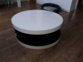 Modern dwell white swivel coffee table