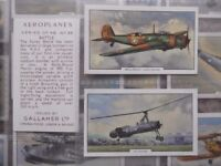 Gallaher cigarette cards - Aeroplanes - full set 48 cards