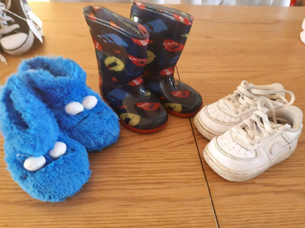 half off 34b42 79a67 Size 5 Toddler shoe bundle - wellies, slippers and Nike trainers | in  Whinmoor, West Yorkshire | Gumtree