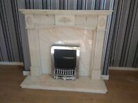 Marble Fireplace and Electric Fire