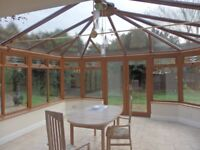 MID BROWN UPVC DOUBLE GLAZED CONSERVATORY