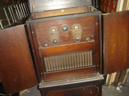VINTAGE  STEINITE  7 tube EARLY AC RADIO from 1927 using 199 tubes VERY RARE SET