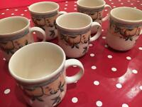 11 mugs Golden Pears
