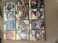 Xbox 360 bundle (controllers, games, headset, Kinect and console