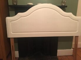 Solid Pine painted Wooden Double Bed Head Board