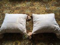 CUSHIONS- 2 matching cushions, cream