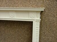 A fine painted George III style fire surround