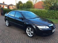 '04' Reg Mazda 6 Zugara Special Edition, Black, Manual, Full Service History, MOT until Jan 2018