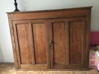 Antique school cupboard