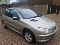 PEUGEOT 206 AUTOMATIC PETROL ROLLAND GARROS LIMITED EDITION-LEATHER INTERIOR not peugeot 307 car 206