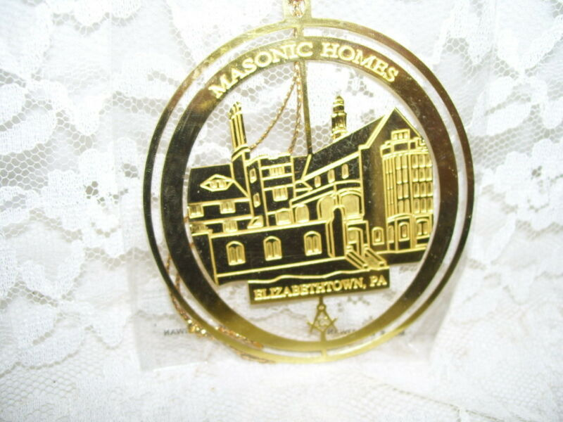 GOLDTONE CHRISTMAS ORNAMENT MASONIC HOMES ELIZABETHTOWN PA
