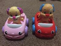 2 x Fisher Price Cars