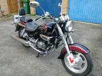 125cc Hyosung Aquila, Low Mileage, 1 Previous Owner, Long MOT