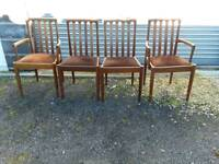 Set of four dining chairs, Inc two carvers