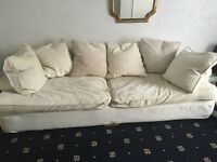 Leather chaise lounge and 2 Fabric sofas for sale