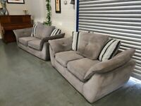 Nice Grey 3 & 2 seater sofa + Free Delivery