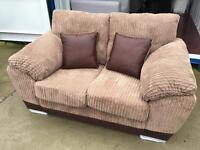Dfs Nutmeg cord & brown Faux Leather 2 Seater Sofa (New ex display)