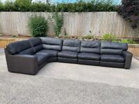 Large Quality Italian Leather/Fabric corner sofa