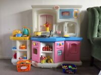Ultimate Children's Play Kitchen with Pots, Pans and Food!