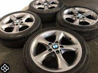 "NEW GENUINE BMW 17"" ALLOY WHEELS & TYRES - 5 X 120 - 205 50 17 - GRAPHITE GREY - Wheel Smart"